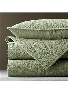 Light Green Geometric Pattern Cotton Bed in a Bag Set