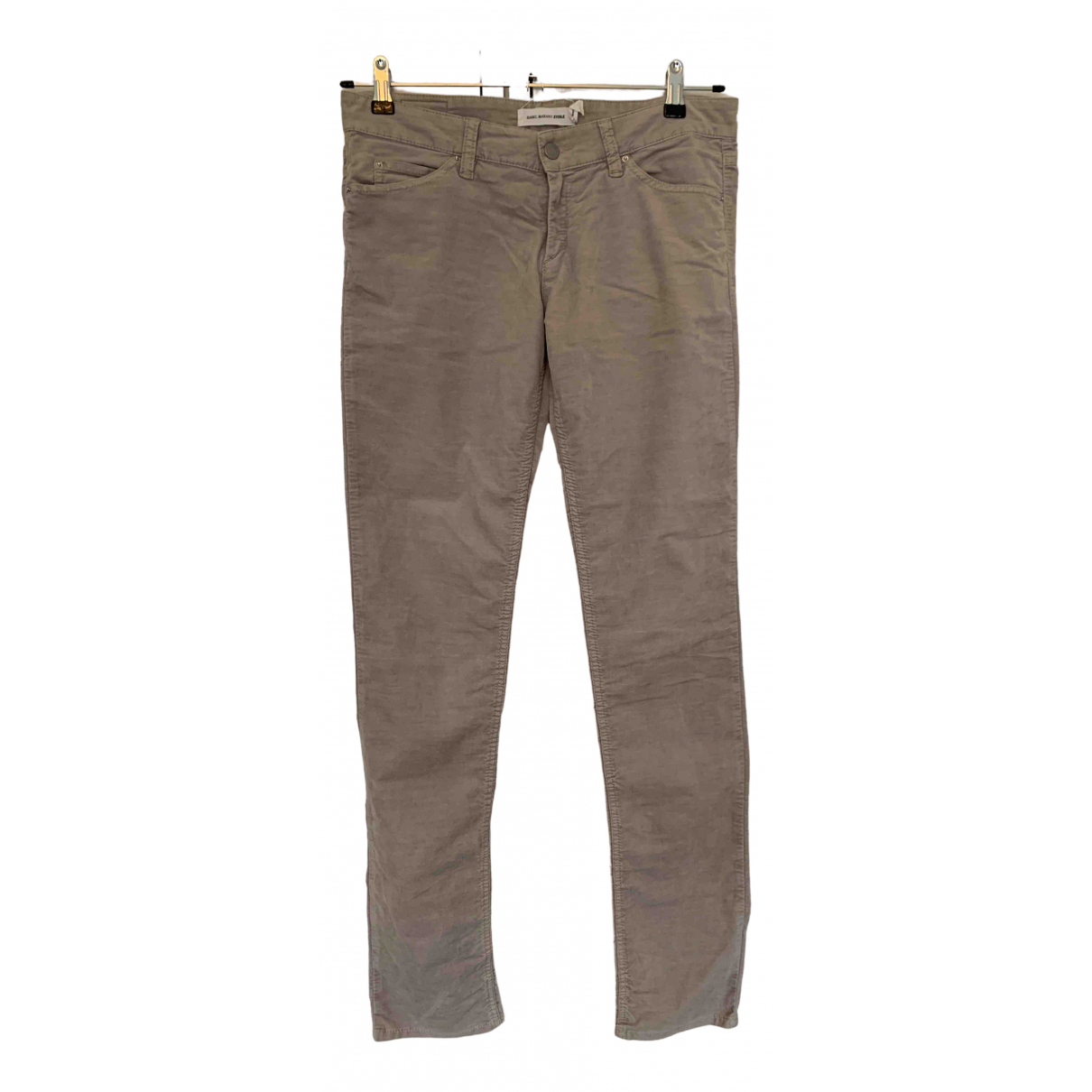 Isabel Marant Etoile N Purple Cotton Trousers for Women 40 FR