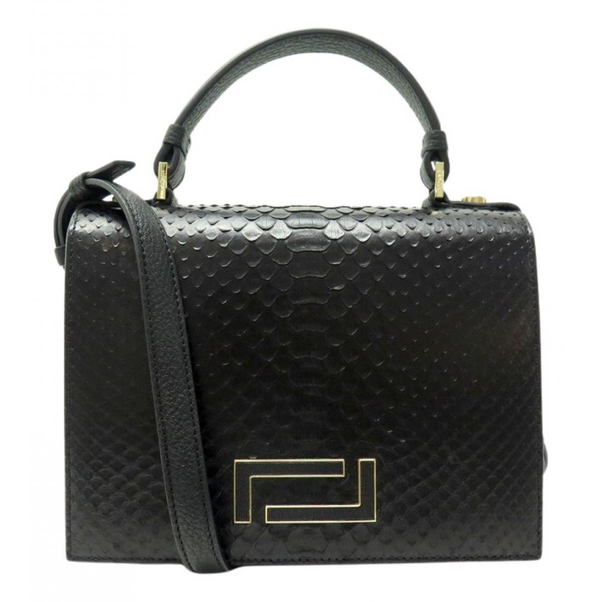 Lancel \N Handtasche in  Schwarz Exotenleder