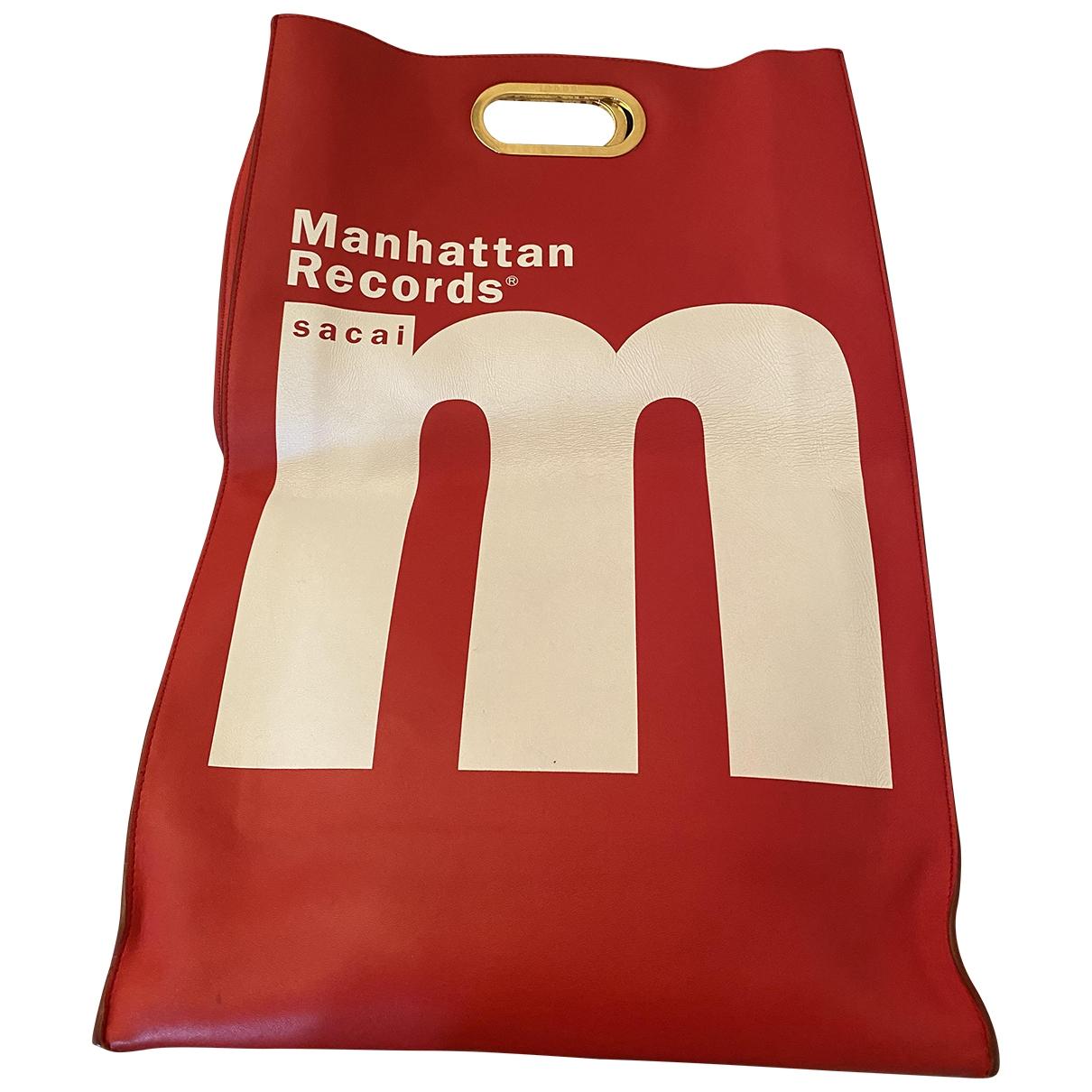 Sacai \N Red Leather handbag for Women \N
