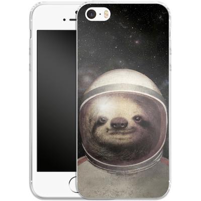 Apple iPhone 5 Silikon Handyhuelle - Space Sloth von Eric Fan