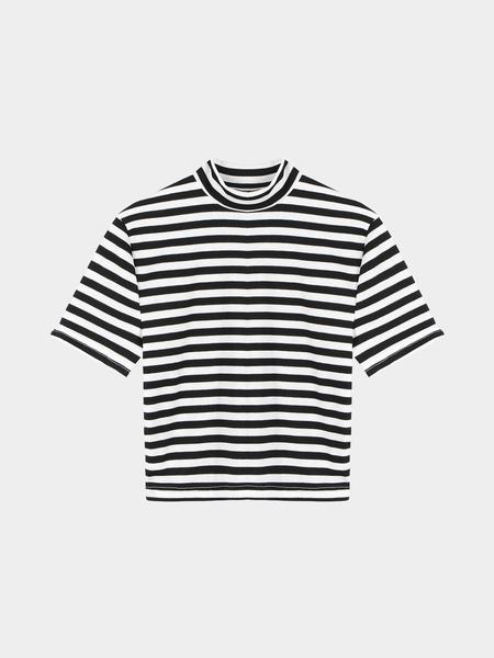 Yoins Stripe Crop Top With Crew Neckline