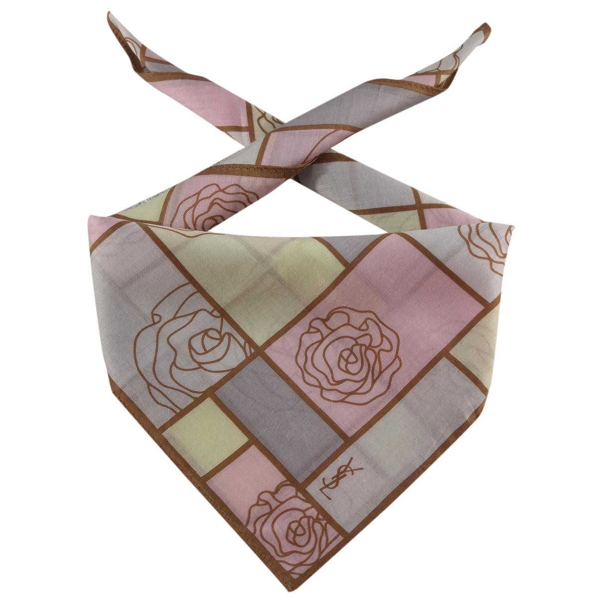 Yves Saint Laurent - Foulard   pour femme en soie