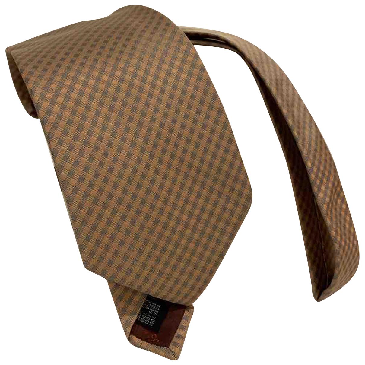 Salvatore Ferragamo \N Krawatten in  Beige Seide