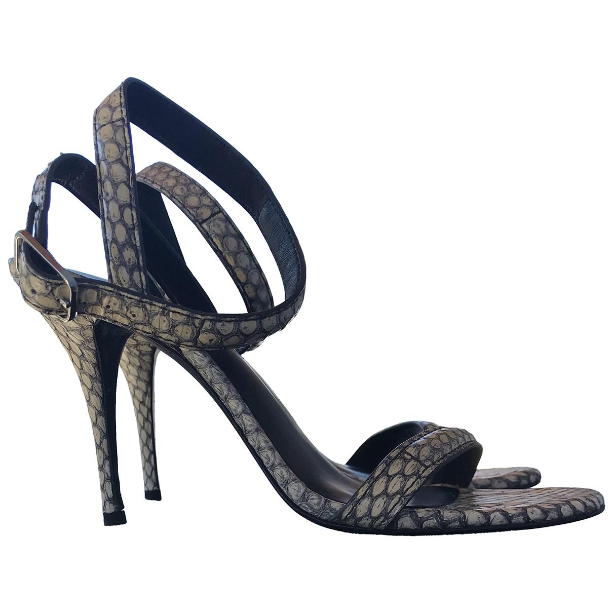 Alexander Wang - Sandales   pour femme en python - beige