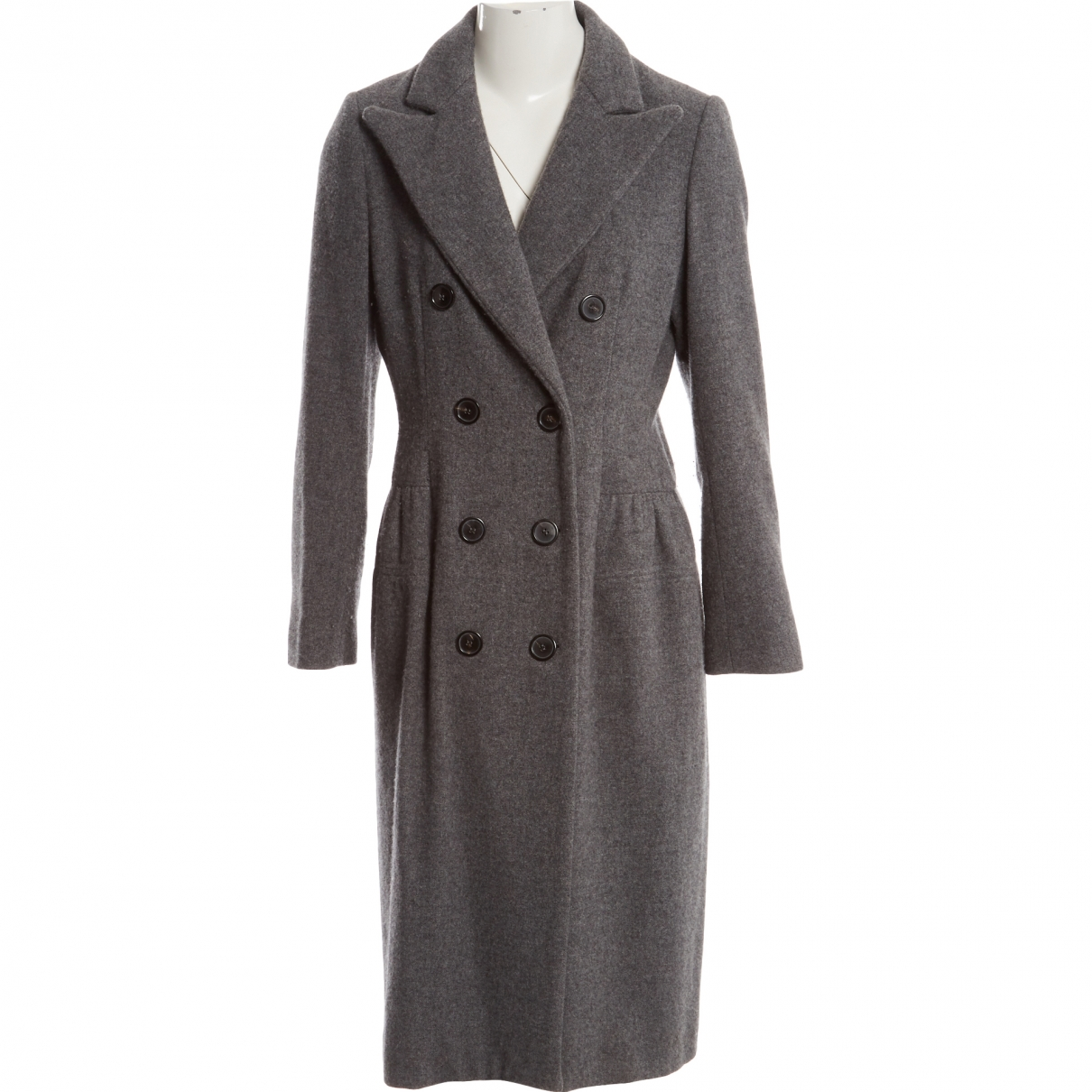 Lanvin N Grey Wool coat for Women 40 IT