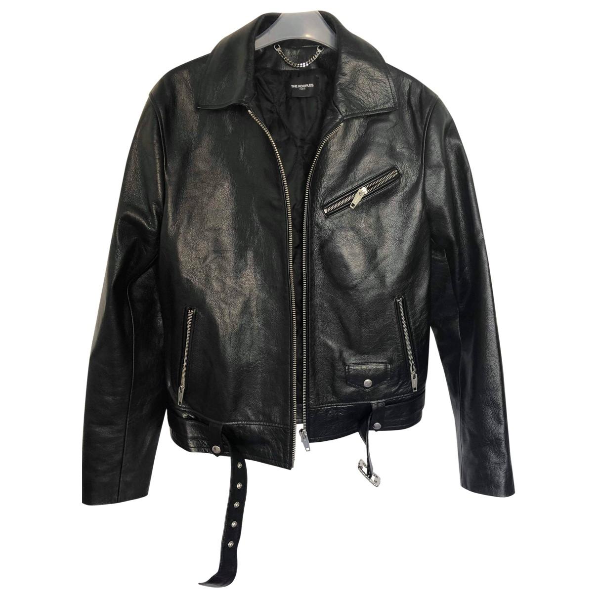 The Kooples Spring Summer 2019 Black Leather jacket  for Men M International