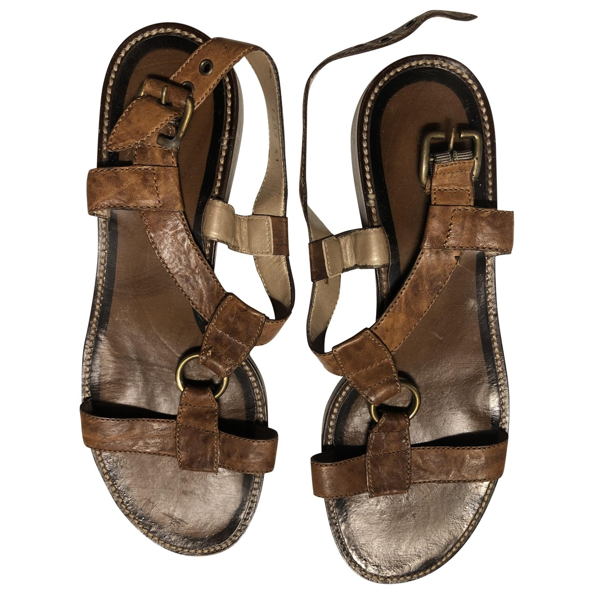 Janet & Janet \N Leather Sandals for Women 41 IT