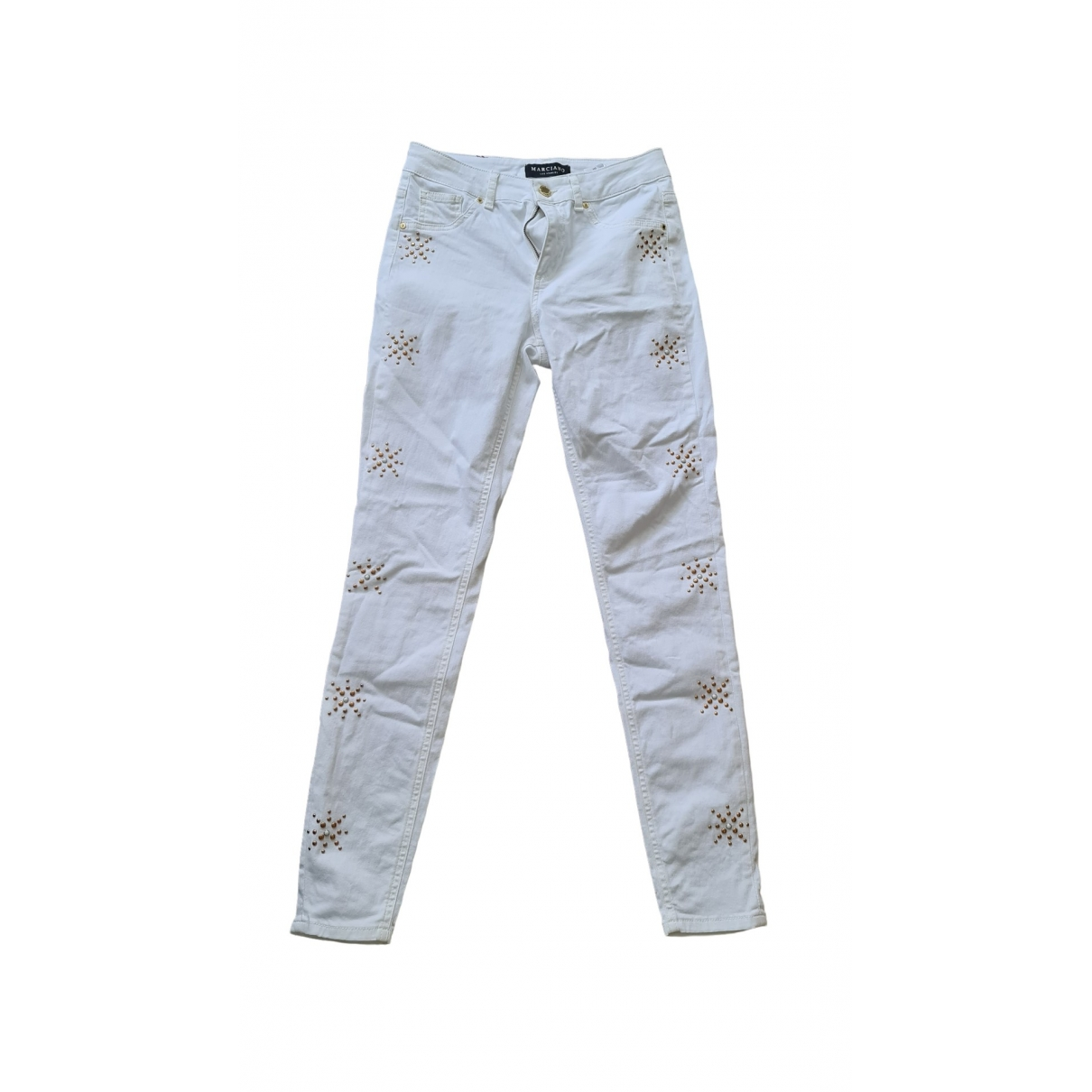 Guess \N White Cotton - elasthane Jeans for Women 26 US
