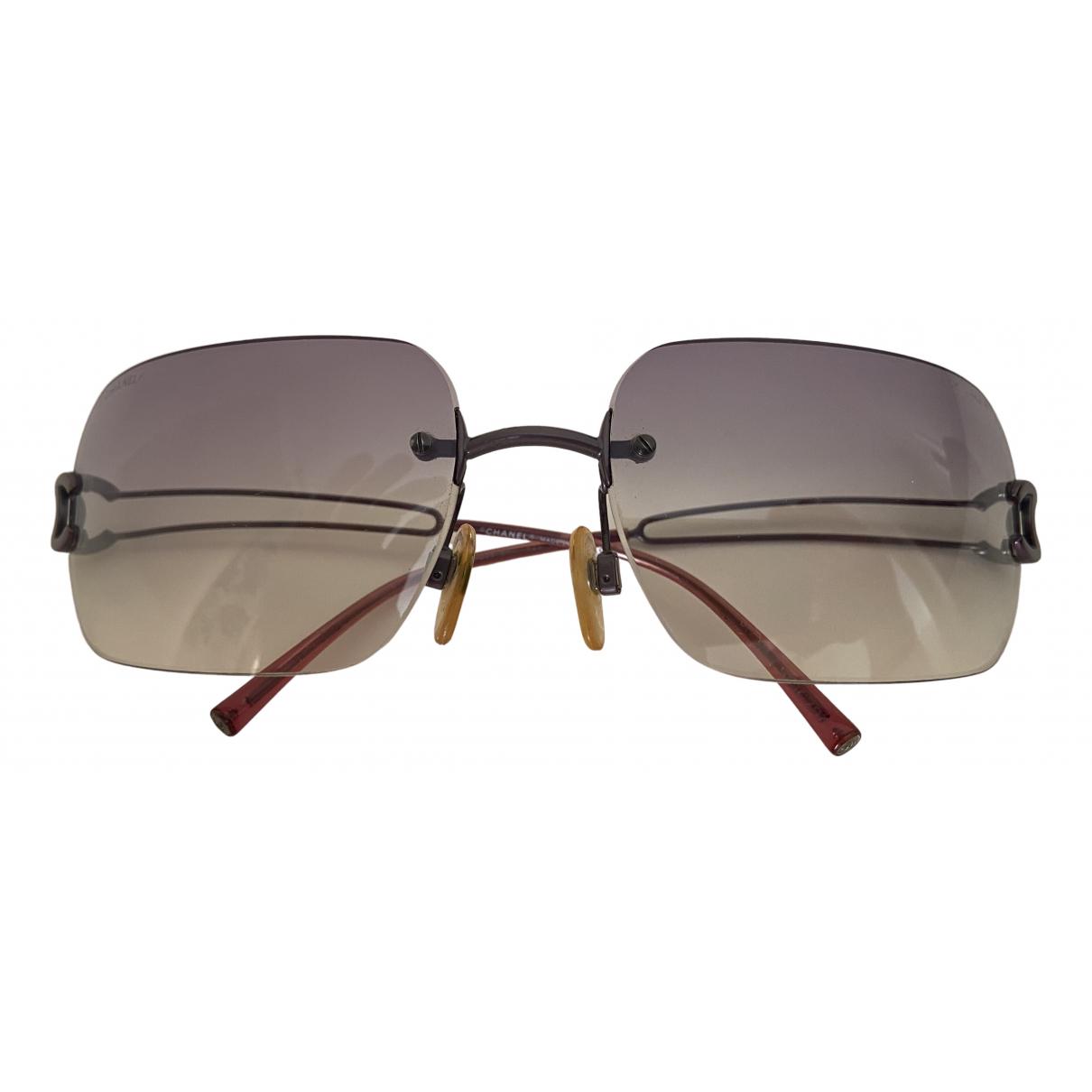 Chanel N Grey Metal Sunglasses for Women N