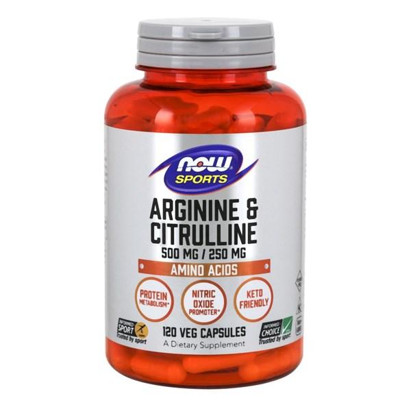 Arginine & Citrulline 120caps by Now Foods