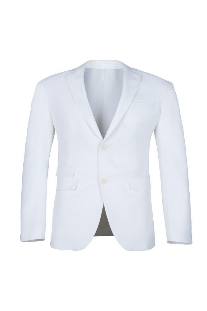 De alta calidad de espalda blanca de ventilacion de dos botones traje casual padrinos de boda pico solapa