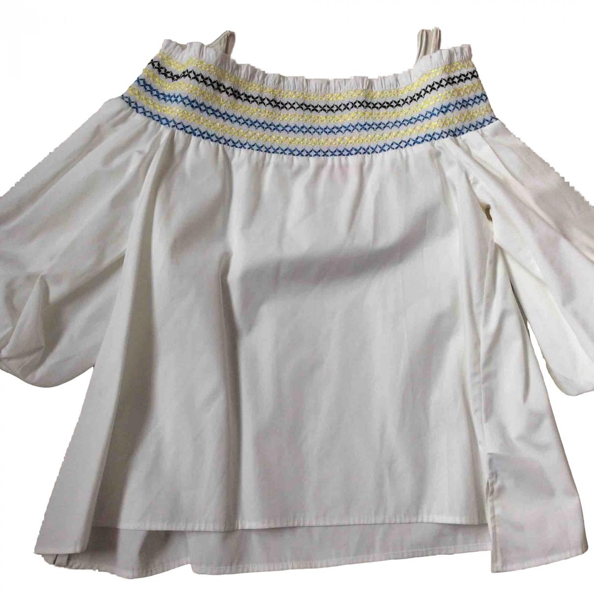 Peter Pilotto - Top   pour femme en coton - blanc