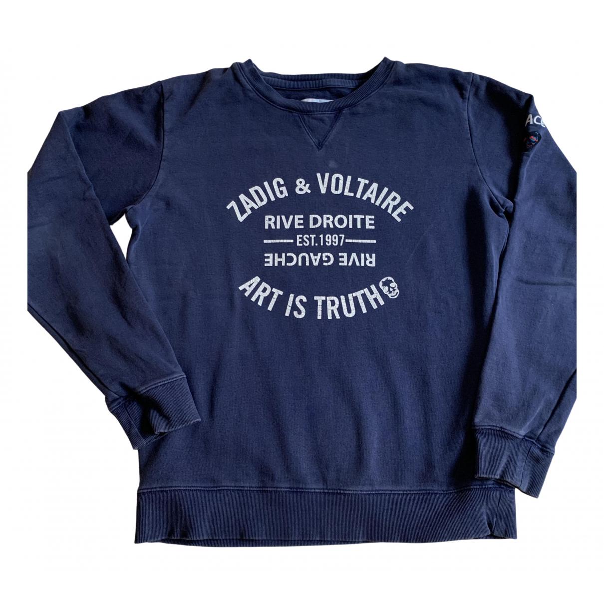 Zadig & Voltaire \N Pullover.Westen.Sweatshirts  in  Marine Baumwolle