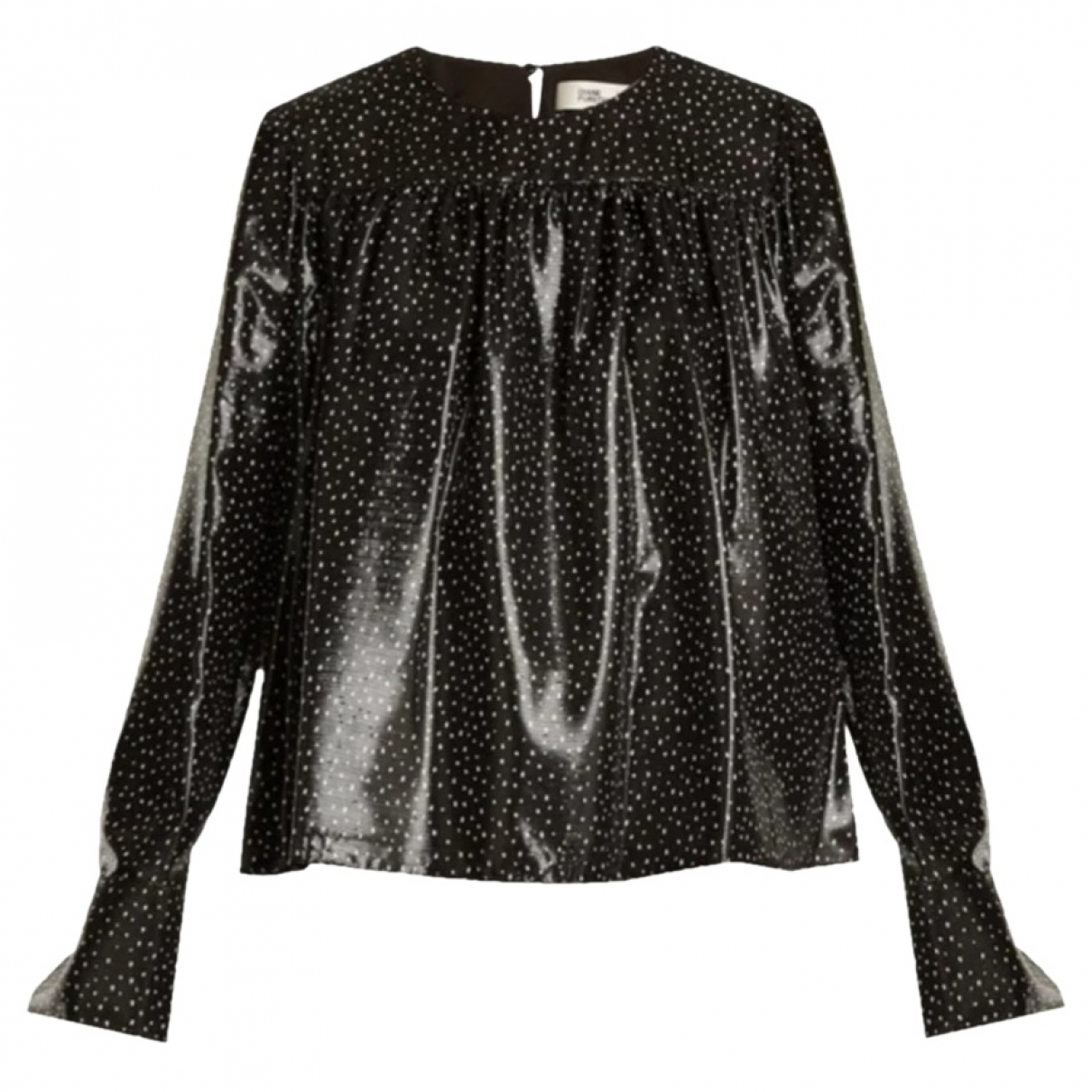 Diane Von Furstenberg \N Black Silk  top for Women 10 US