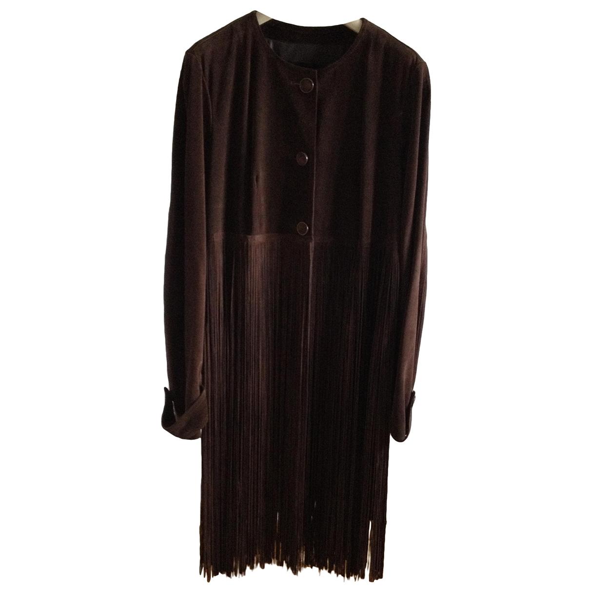 Plein Sud \N Brown Suede coat for Women 44 FR