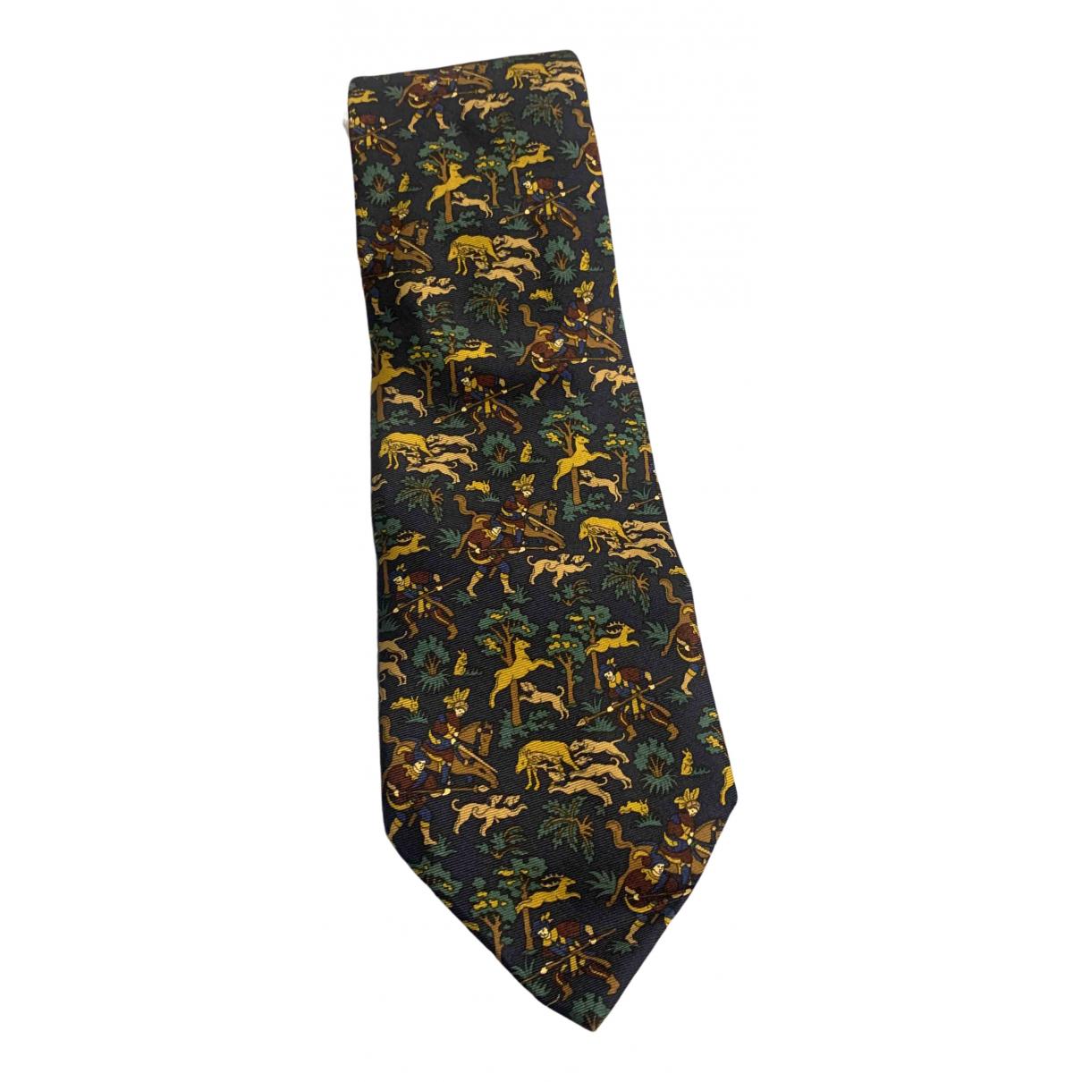Etro \N Krawatten in  Blau Seide