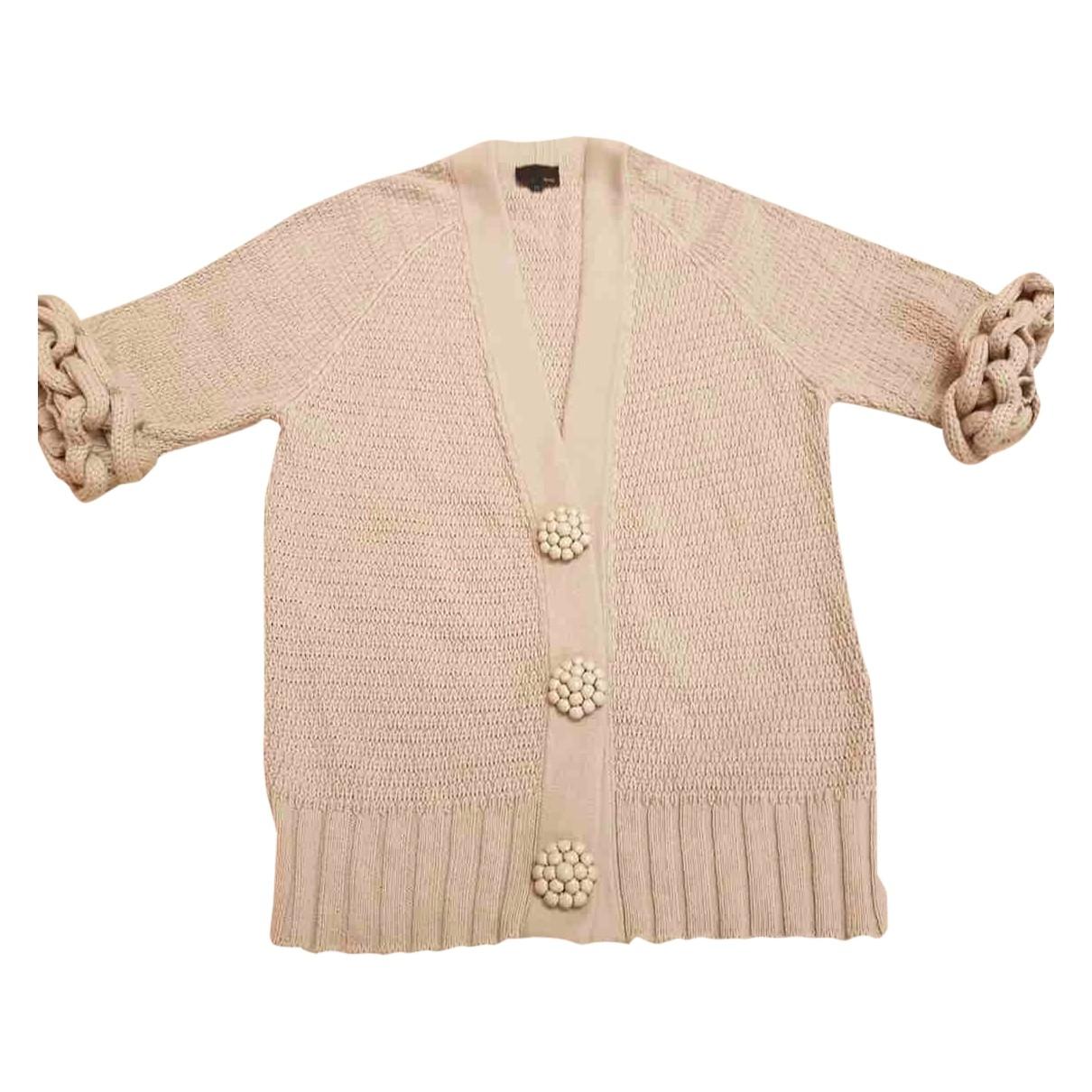 Fendi - Pull   pour femme en coton - beige