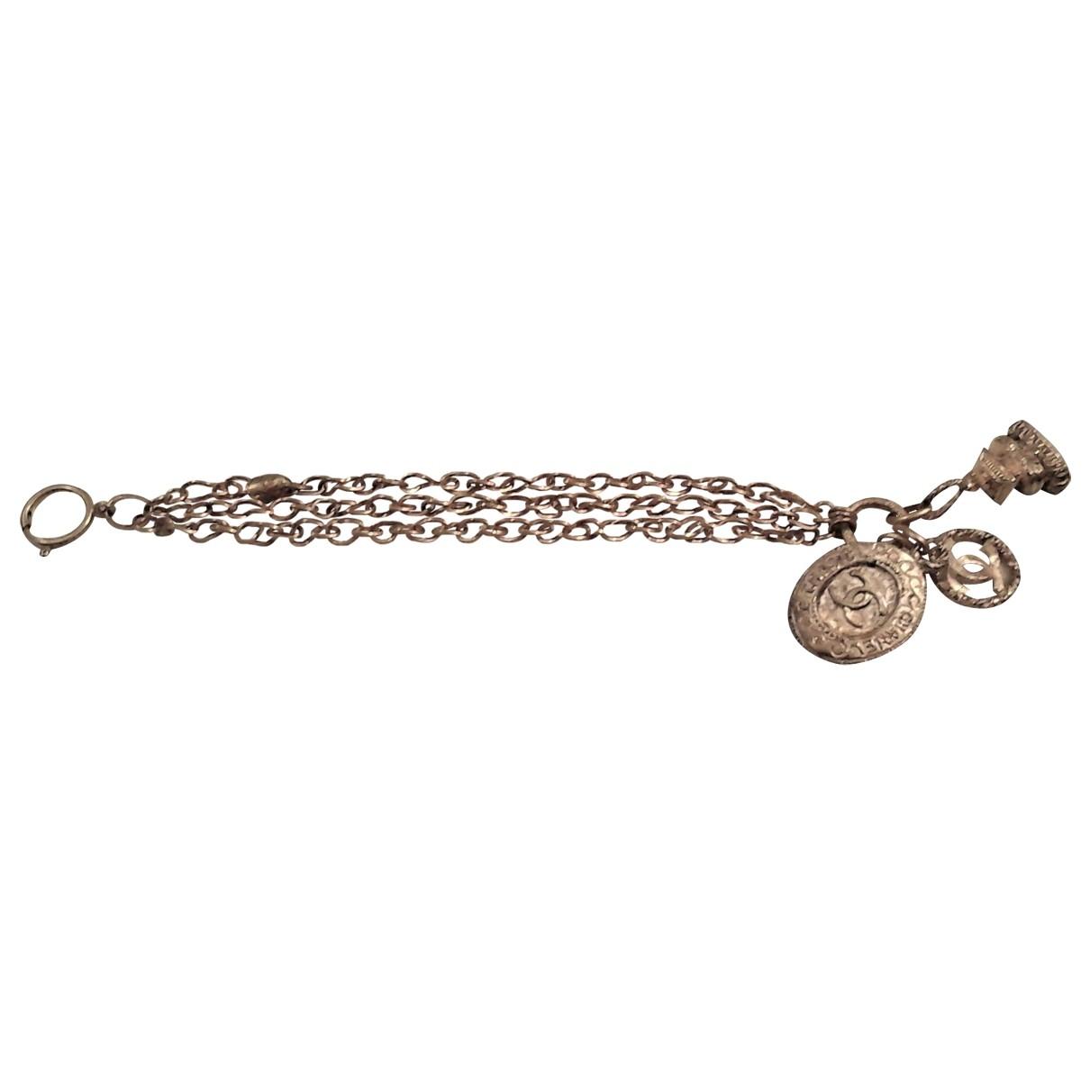 Chanel - Bracelet CHANEL pour femme en plaque or - dore