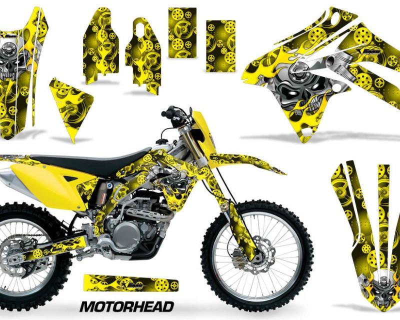 AMR Racing Dirt Bike Graphic Kit Decal Sticker Wrap For Suzuki RMX450Z 2009-2017áMOTORHEAD YELLOW