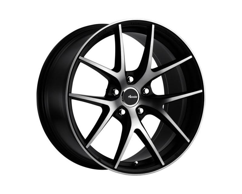 Advanti Racing Vigoroso Wheel 18x8 5x114.3 45 BKMCTD Matte Black Smoked Clear