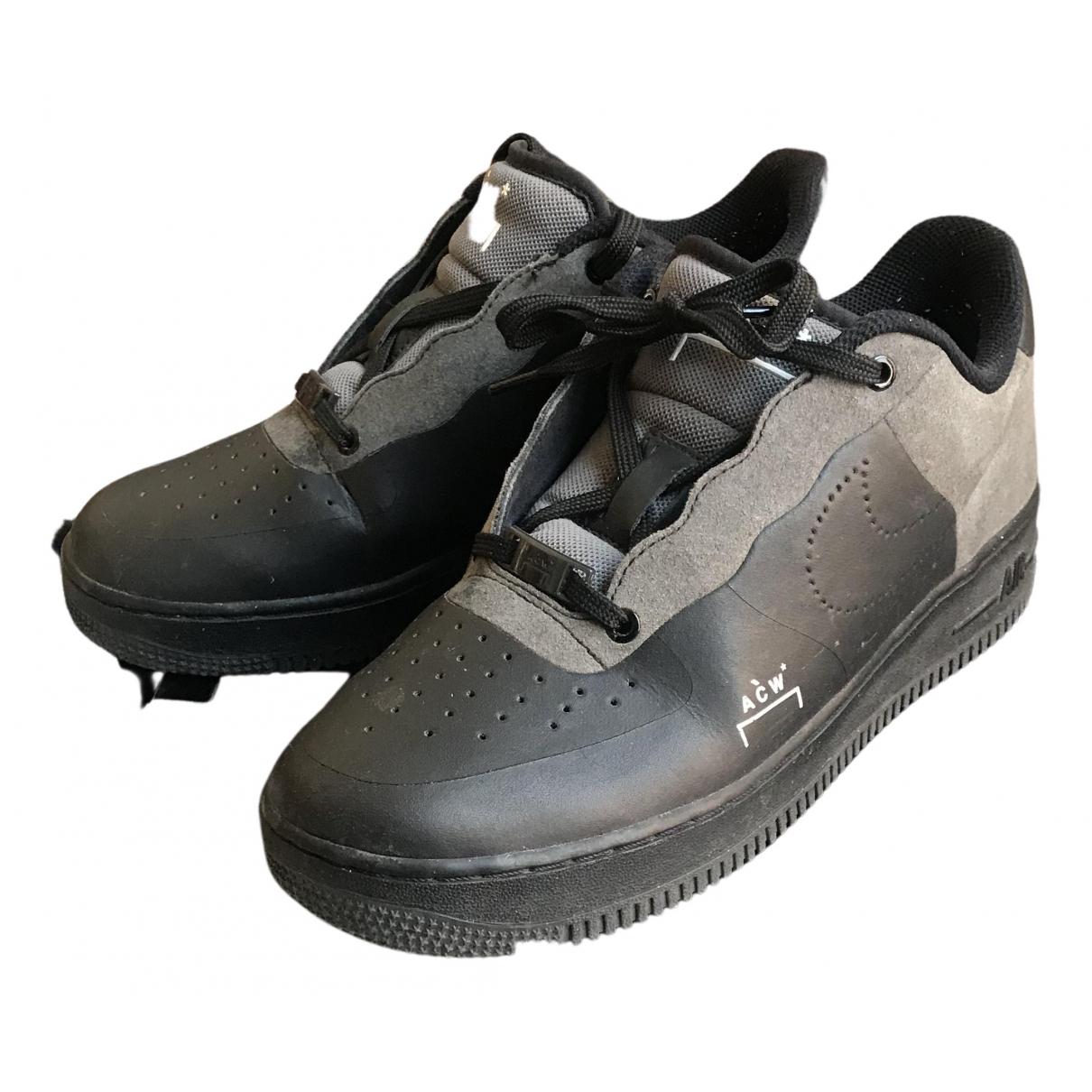 Nike X A-cold-wall - Baskets   pour homme en cuir - noir