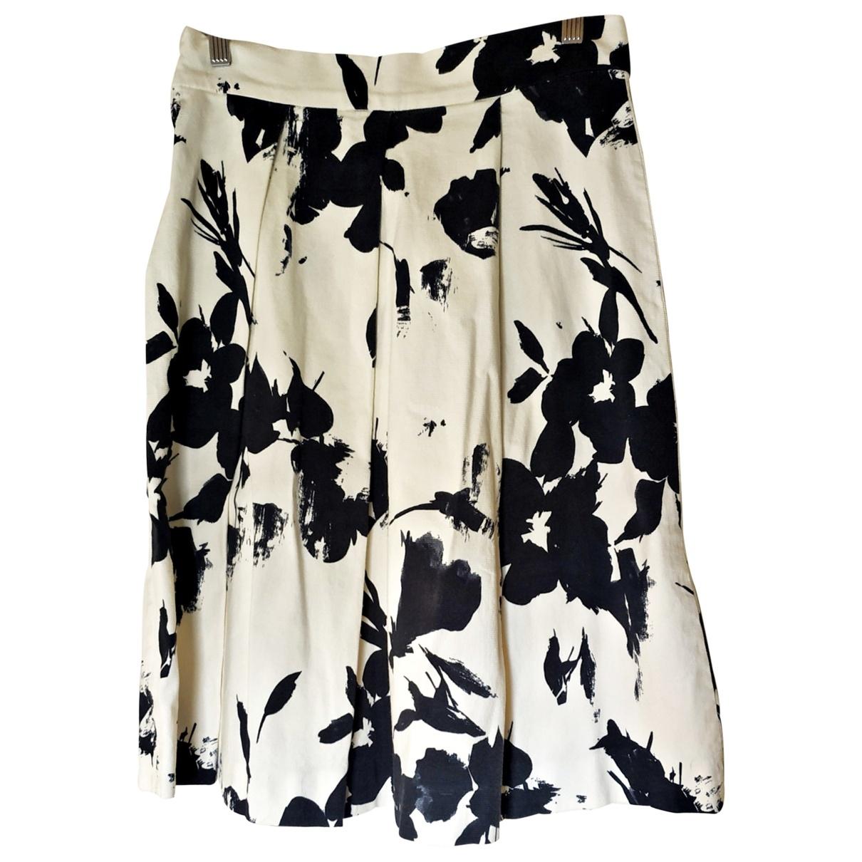 Zara \N Ecru Cotton skirt for Women L International