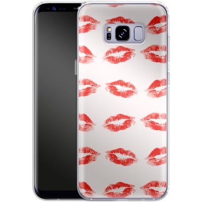 Samsung Galaxy S8 Plus Silikon Handyhuelle - Kiss Kiss von caseable Designs