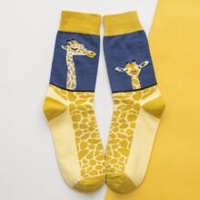 Socken mit Giraffe Muster