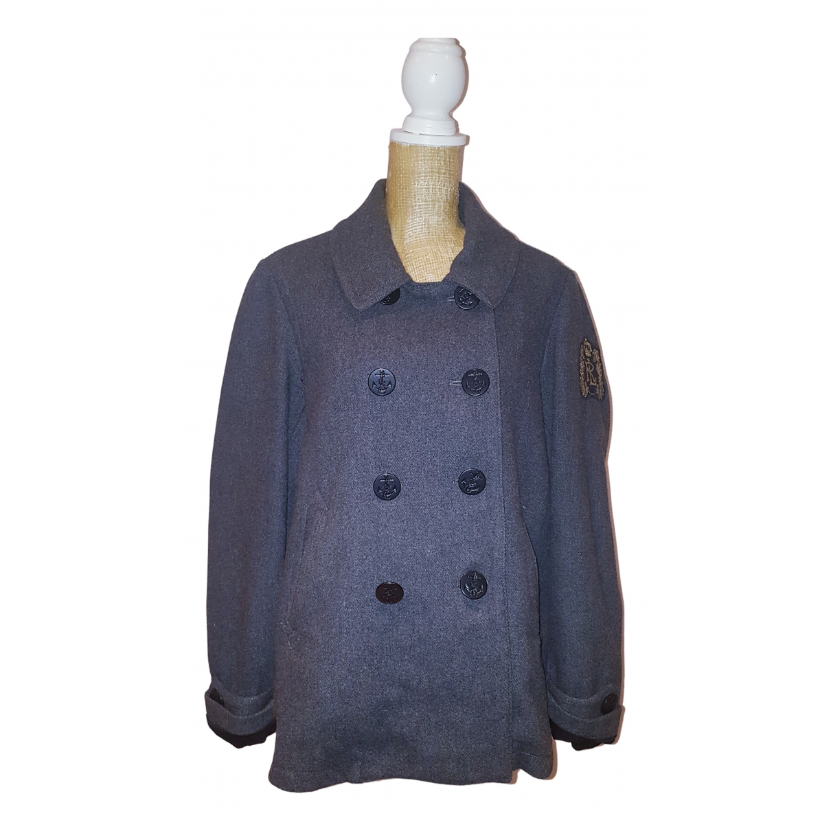 Polo Ralph Lauren N Grey Wool coat for Women XL International