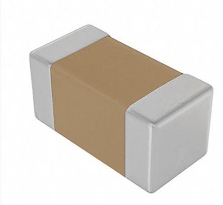 KEMET 0402 (1005M) 1.2nF Multilayer Ceramic Capacitor MLCC 50V dc ±5% SMD C0402C122J5GACTU (10000)