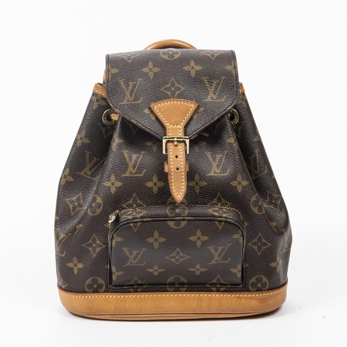 Louis Vuitton - Sac a main   pour femme en coton - marron