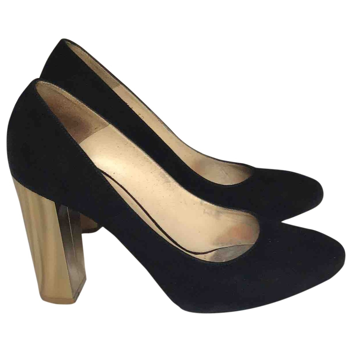Lk Bennett \N Black Suede Heels for Women 38 EU