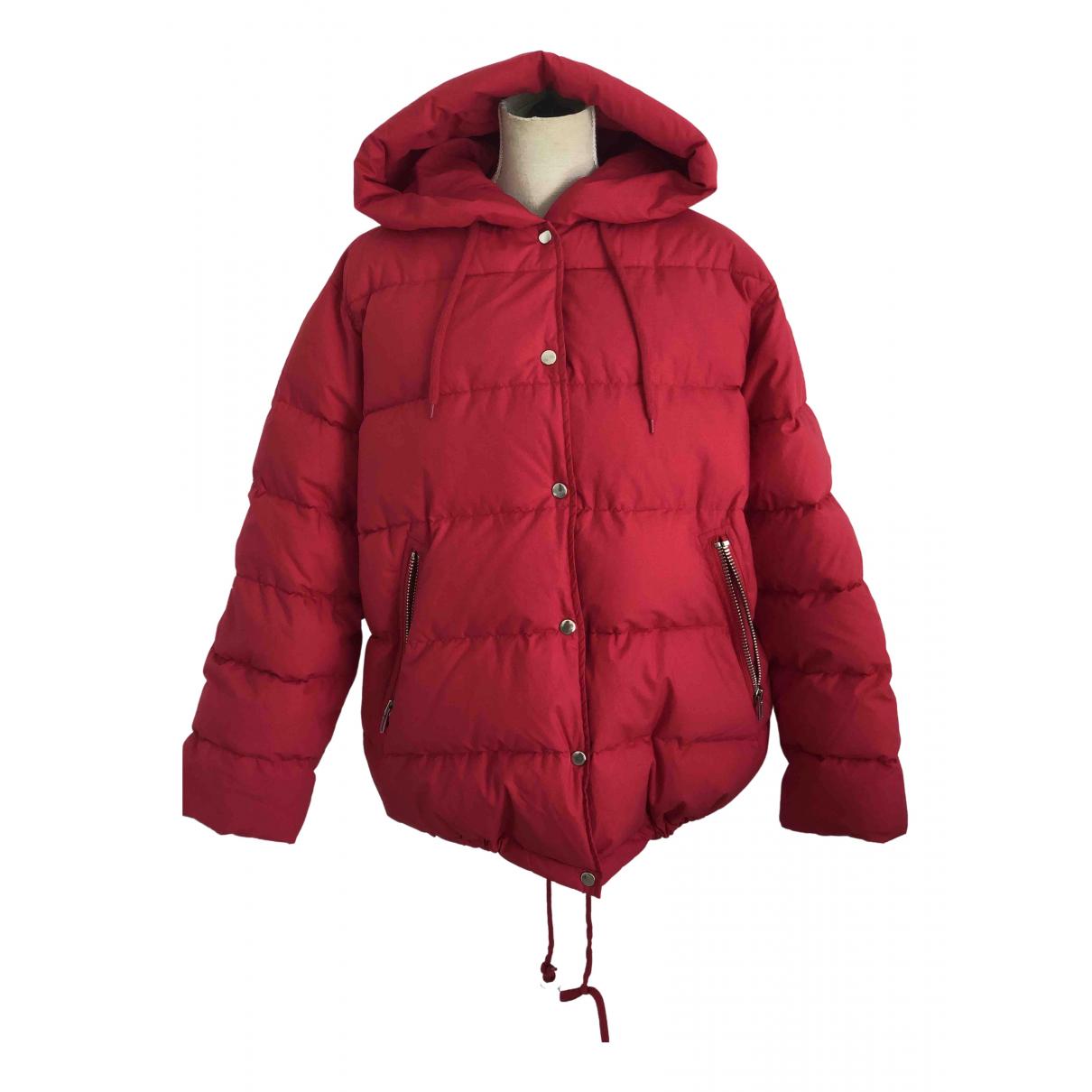 Maje - Manteau   pour femme en coton - rouge
