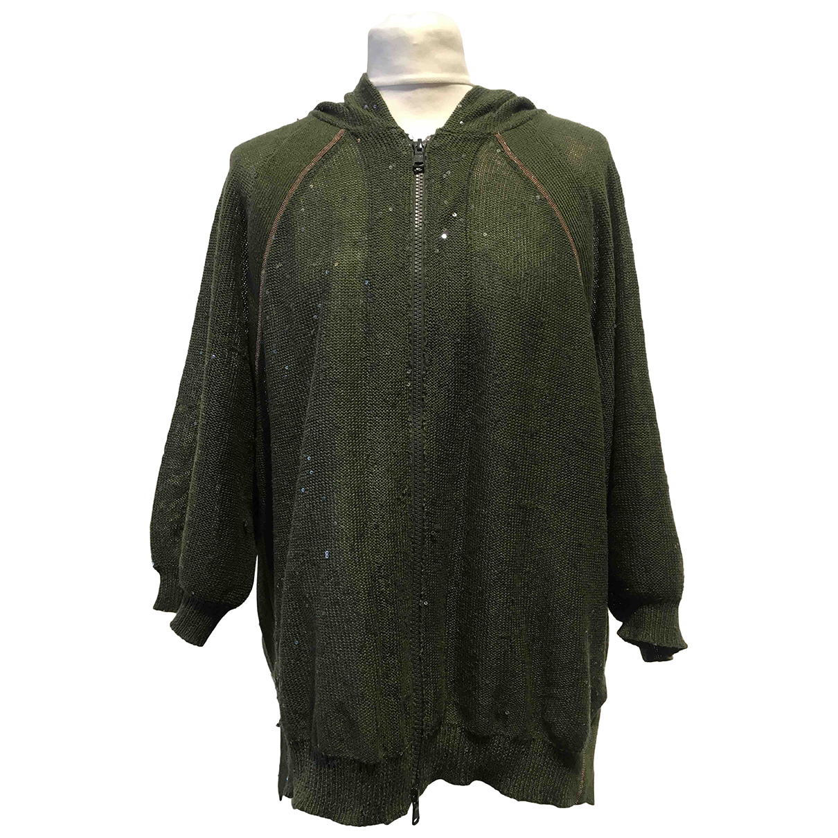 Brunello Cucinelli N Green Linen Knitwear for Women M International