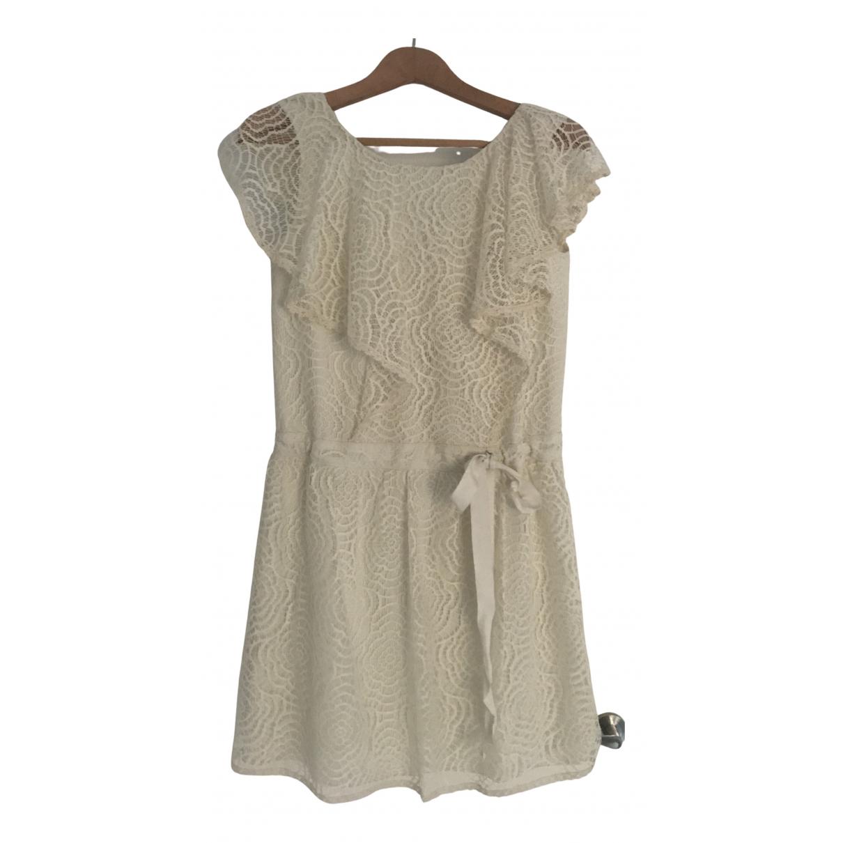 Anna Sui \N Kleid in  Beige Spitze