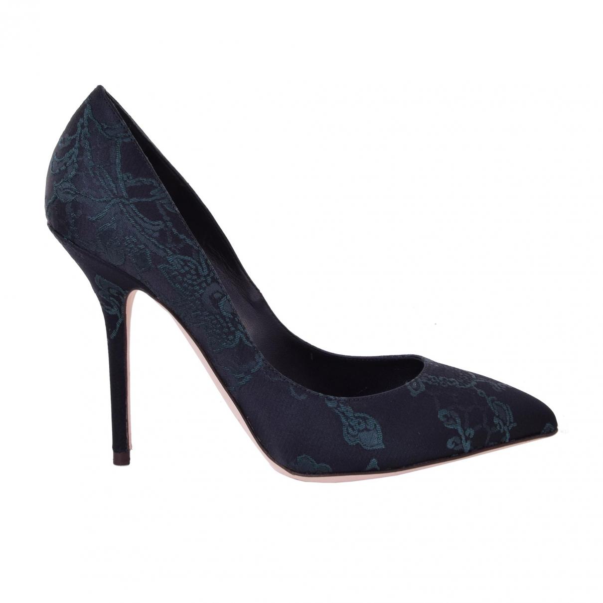 Dolce & Gabbana \N Black Cloth Heels for Women 39 EU