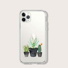 Cactus Print Transparent iPhone Case