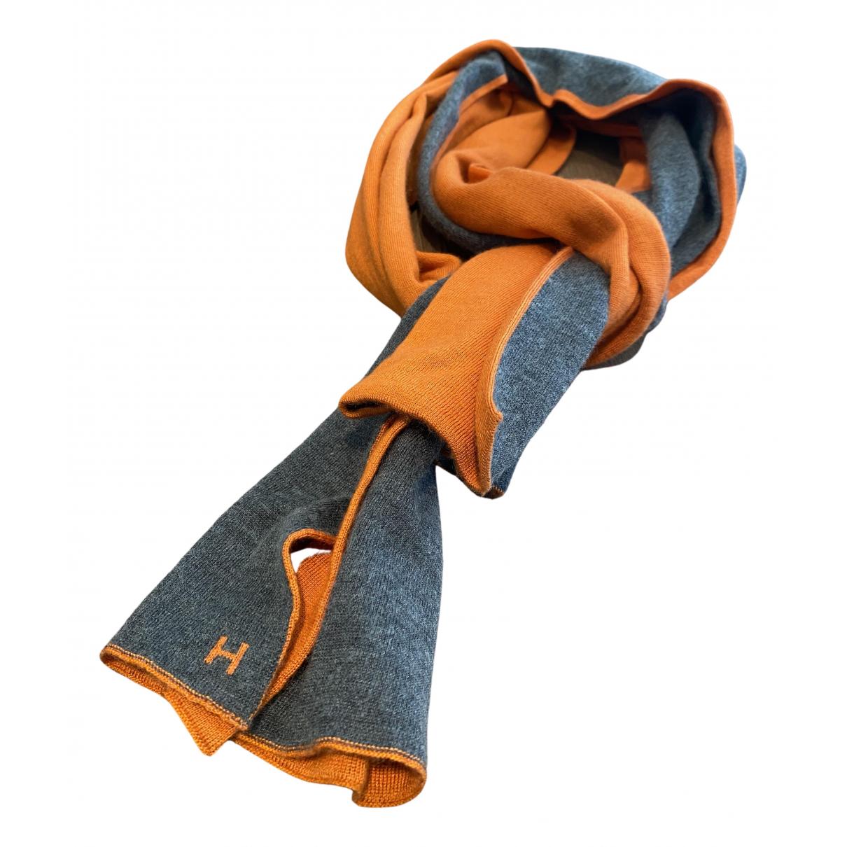 Hermès \N Orange Cashmere scarf for Women \N