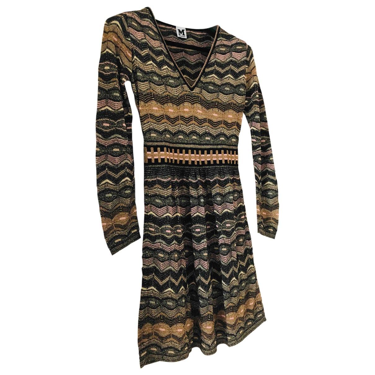 M Missoni \N Gold Cotton dress for Women 42 FR