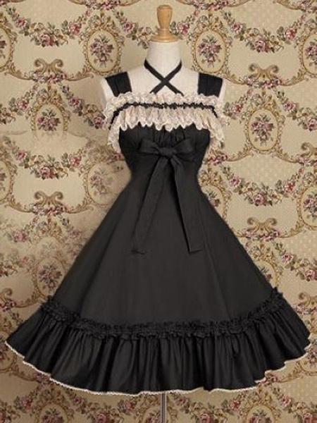 Milanoo Classic Lolita JSK Dress Ruffles Soft Pink Lolita Jumper Skirts