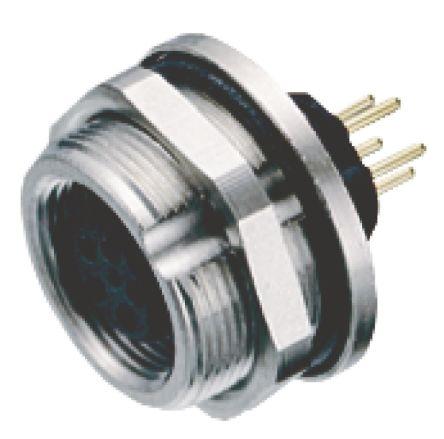 Binder Connector, 5 contacts Panel Mount M9 Socket, Solder IP67