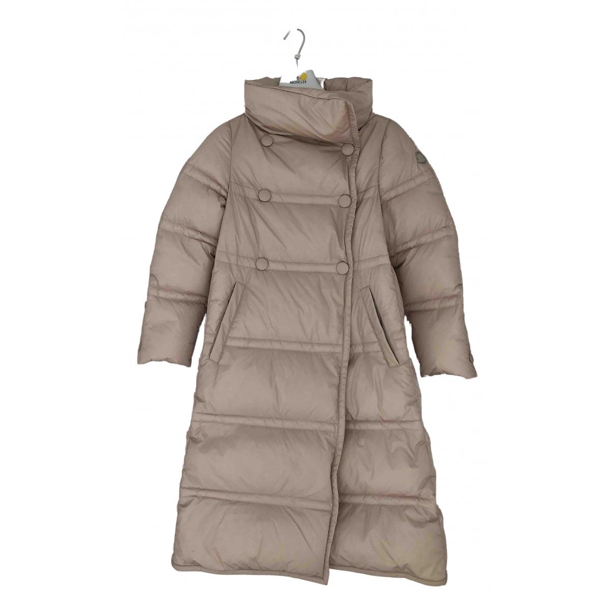 Moncler - Manteau Long pour femme - beige