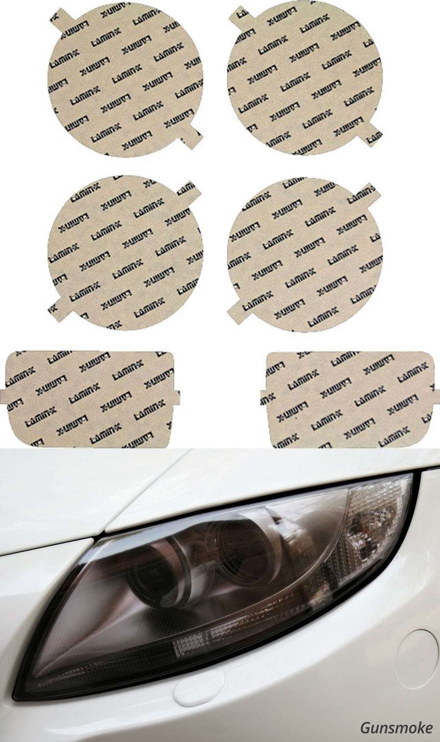 BMW 3-Series 82-91 Gunsmoke EURO Lighting Covers Lamin-X B306EG