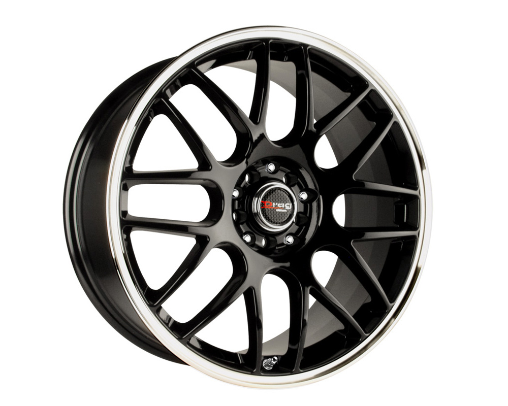 Drag DR-34 Gloss Black Machined Lip 16x7 5x105/110 40mm