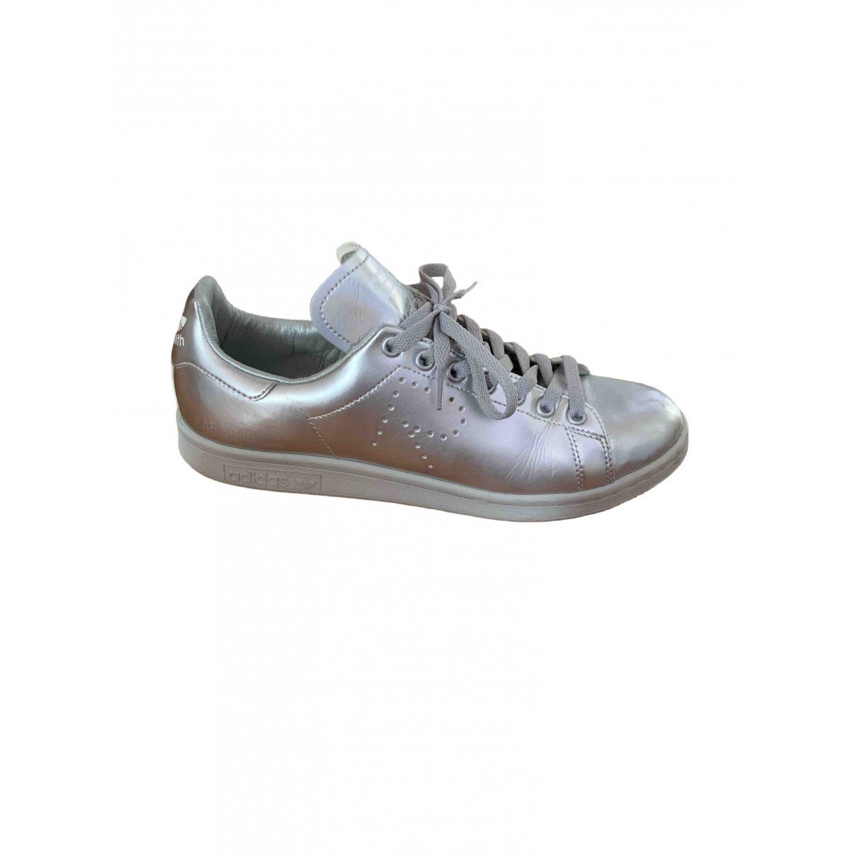 Adidas X Raf Simons Stan Smith Sneakers in  Silber Leder
