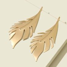 Leaf Decor Stud Earrings