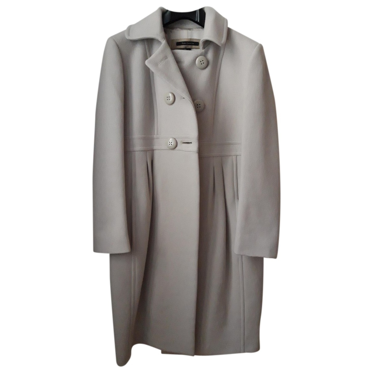 Tara Jarmon N Beige Wool coat for Women 36 FR