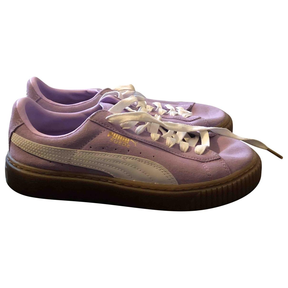 Puma - Baskets   pour femme en suede - violet