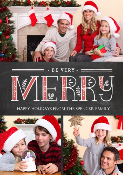 Christmas Photo Cards 5x7 Cards, Premium Cardstock 120lb, Card & Stationery -Sprigs of Merry